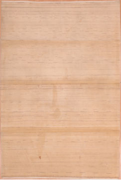 "Gabbeh Beige Hand Knotted 5'2"" X 8'7""  Area Rug 100-109006"