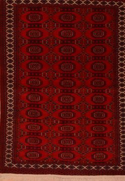 "Khan Mohammadi Red Hand Knotted 3'9"" X 5'6""  Area Rug 100-109018"