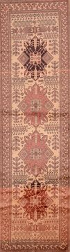 "Shirvan Red Runner Hand Knotted 3'0"" X 11'0""  Area Rug 100-109059"