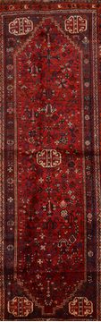 Persian Qashqai Red Runner 10 to 12 ft Wool Carpet 109069