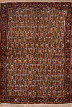 Persian Shiraz Red Rectangle 5x7 ft Wool Carpet 109099