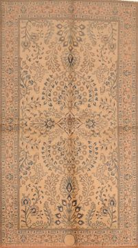 "Sarouk Green Hand Knotted 4'2"" X 7'7""  Area Rug 100-109100"