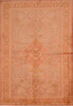 "Maymeh Beige Hand Knotted 5'6"" X 8'1""  Area Rug 100-109103"