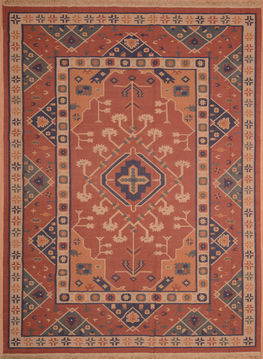 "Kilim Red Flat Woven 8'9"" X 11'0""  Area Rug 100-109138"