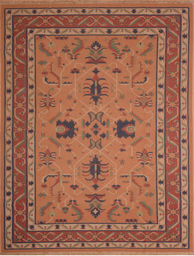 "Kilim Red Flat Woven 8'10"" X 11'0""  Area Rug 100-109184"