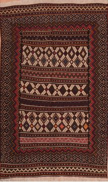 "Kilim Red Hand Knotted 4'6"" X 7'3""  Area Rug 100-109192"