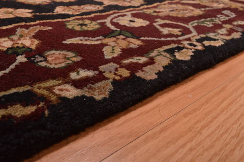 Indian Jaipur Beige Rectangle 3x5 Ft Wool Carpet 109199