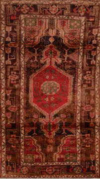 Persian Abadeh Brown Rectangle 3x5 ft Wool Carpet 109201