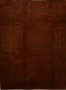 "Tabriz Brown Hand Knotted 7'3"" X 9'1""  Area Rug 100-109202"