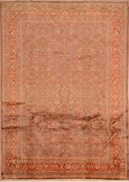 "Kashan Orange Hand Knotted 6'8"" X 9'4""  Area Rug 100-109207"