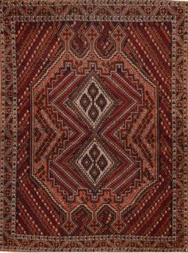 "Shahre Babak Red Hand Knotted 3'5"" X 4'9""  Area Rug 100-109211"
