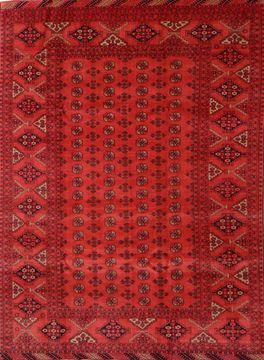 "Khan Mohammadi Red Hand Knotted 7'0"" X 9'6""  Area Rug 100-109214"