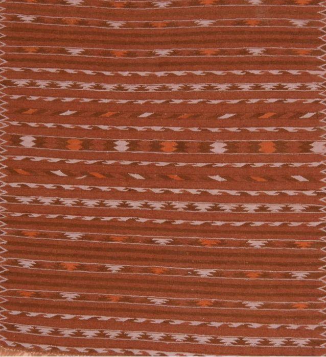 Kilim Brown Square Flat Woven 3 8