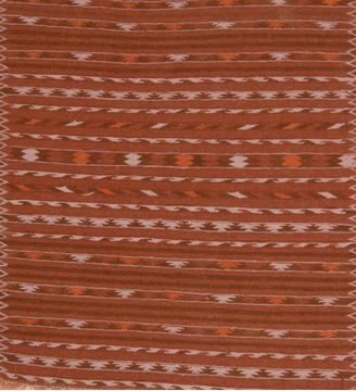 Afghan Kilim Brown Square 4 ft and Smaller Wool Carpet 109215