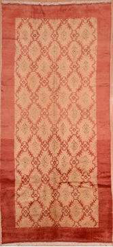 Turkish Gabbeh Orange Runner 10 to 12 ft Wool Carpet 109220