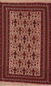 3x4 Persian Authentic Roodbar Rug Hand-knotted Rug Antiques