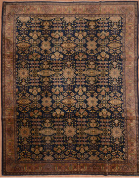"Mahal Blue Hand Knotted 8'11"" X 11'5""  Area Rug 100-109254"