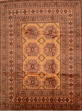 "Khan Mohammadi Yellow Hand Knotted 7'9"" X 10'7""  Area Rug 100-109259"