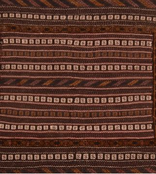 "Kunduz Brown Square Hand Knotted 3'8"" X 4'1""  Area Rug 100-109273"