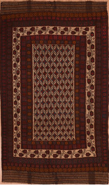 Afghan Kilim Red Rectangle 6x9 ft Wool Carpet 109306