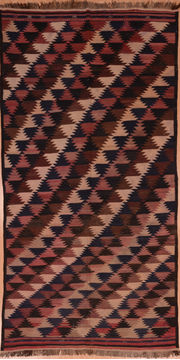 "Kilim Red Runner Flat Woven 5'0"" X 9'10""  Area Rug 100-109323"