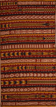 "Kilim Red Flat Woven 6'2"" X 13'2""  Area Rug 100-109341"