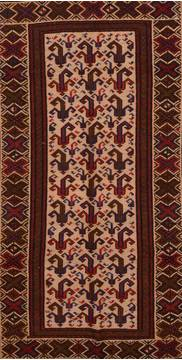 Afghan Kilim Red Rectangle 6x9 ft Wool Carpet 109350