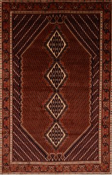 Persian Shahre babak Brown Rectangle 7x10 ft Wool Carpet 109363