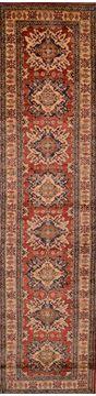 "Kazak Red Runner Hand Knotted 2'8"" X 10'9""  Area Rug 100-109371"