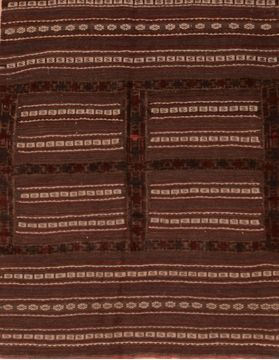 Afghan Kilim Red Square 4 ft and Smaller Wool Carpet 109401