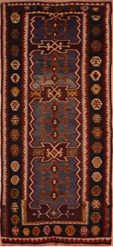 "Kilim Red Runner Flat Woven 5'5"" X 12'6""  Area Rug 100-109435"