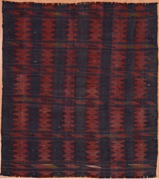 "Kilim Red Hand Knotted 5'9"" X 9'2""  Area Rug 100-109451"