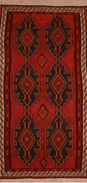 "Kilim Red Flat Woven 5'8"" X 10'0""  Area Rug 100-109496"