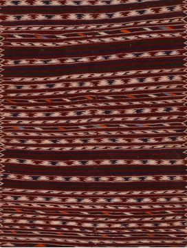 Afghan Kilim Red Rectangle 4x6 ft Wool Carpet 109502