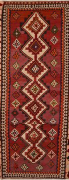 Afghan Kilim Red Runner 13 to 15 ft Wool Carpet 109620