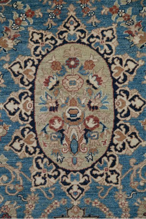 Pakistani Chobi Blue Rectangle 6x9 Ft Wool Carpet 109704