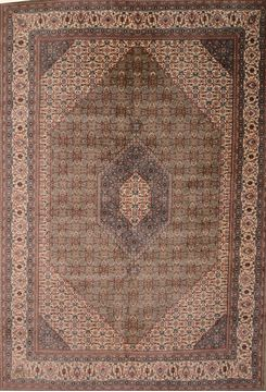 "Mahi Green Hand Knotted 10'0"" X 14'6""  Area Rug 100-109766"