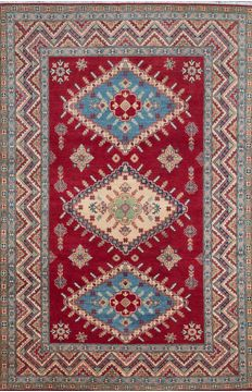 "Kazak Red Hand Knotted 6'8"" X 9'10""  Area Rug 700-109794"