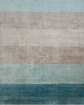 "Gabbeh Multicolor Hand Knotted 6'6"" X 9'9""  Area Rug 700-109800"