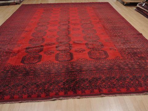 Afghan Khan Mohammadi Red Rectangle 10x14 Ft Wool Carpet