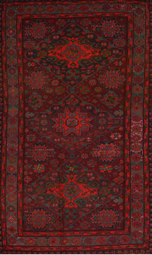 "Kilim Red Flat Woven 6'5"" X 11'11""  Area Rug 100-109843"