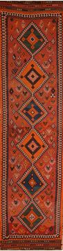 Afghan Kilim Red Runner 16 to 20 ft Wool Carpet 109862