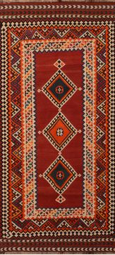 Afghan Kilim Red Runner 10 to 12 ft Wool Carpet 109905