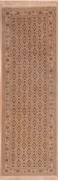 "Herati Beige Runner Hand Knotted 2'6"" X 8'0""  Area Rug 100-109948"