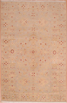 "Pak-Persian Beige Hand Knotted 6'2"" X 9'3""  Area Rug 100-109949"