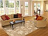 Indo-Nepal Beige Hand Knotted 84 X 115  Area Rug 100-11006 Thumb 4