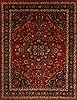Mashad Red Hand Knotted 99 X 129  Area Rug 100-11013 Thumb 0