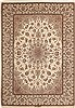 Isfahan Beige Hand Knotted 85 X 120  Area Rug 100-11015 Thumb 0