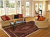 Sanandaj Red Hand Knotted 69 X 911  Area Rug 100-11065 Thumb 4