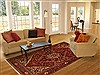 Bakhtiar Red Hand Knotted 611 X 100  Area Rug 100-11090 Thumb 4